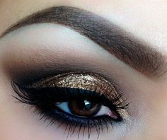 gold & black make up for brown eyes