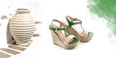 Έμπνευση από το ελληνικό καλοκαίρι. Greek summer inspirations.  #chaniotakis #Greece #shoes #green wedges Green Wedges, Spring Summer 2015, Shoe Collection, Summer Shoes, Sandals, Fashion, Moda, Shoes Sandals, Fashion Styles