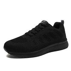 Femmes Flats Fashion Casual Chaussures Lacets mesh respirant femme baskets noir