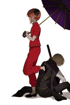 Okita x kagura , Anime Love Couple, Cute Anime Couples, Kamui Gintama, Samurai, Chibi Wallpaper, Okikagu, Fairy Tail Ships, Avatar Couple, Anime Couples