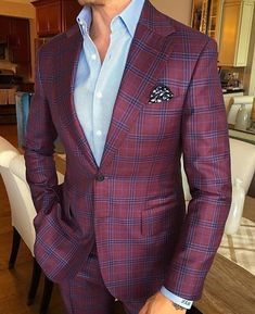 Men's Wool Classic Formal Windowpane Suits 2 Pieces Business Office Tuxedos NEW Business Dress Code, Business Outfits, Smart Casual Attire, Casual Outfits, Mens Fashion Suits, Mens Suits, Windowpane Suit, Well Dressed Men, Blazer