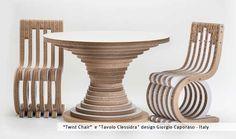 Twist Chair - Cardboard Design by Giorgio Caporaso - Lessmore