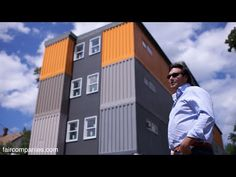 """Stacked cargo containers in New Haven's """"LEGO"""" apartments - YouTube"""