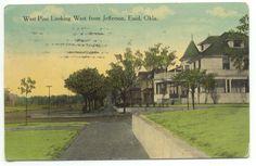 Enid OK West Pine Looking West c1916 Postcard  - Oklahoma