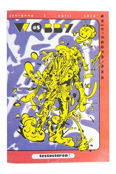 Wobby #5, Risograph printed magazine. Cover by S.L. Trumpstein.