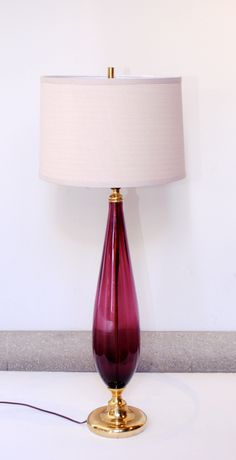 Murano Glass Lamp, Vintage