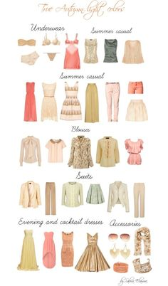Light Spring Soft | True autumn light colors. So maybe fair people fall into the light range/colors of a season and people with darker hair/skin tones fall into the darker colors of that season's palette. Soft spring is Autumn's light range?