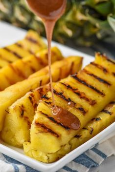 This Grilled Pineapple with Cinnamon Honey Drizzleis a perfectside dish or light dessert! The extra flavor added with the grilling combined with the amazing sauce makes this the most delicious tasty recipe.