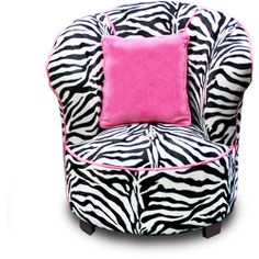 Take a look at this Zebra Tulip Chair & Pillow Set by Newco on today! My New Room, My Room, Girl Room, Girls Bedroom, Bedroom Decor, Bedroom Ideas, White Bedroom, Dream Bedroom, Nursery Ideas
