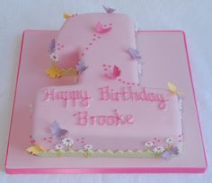 Butterflies Number 1 Birthday Cake | Flickr - Photo Sharing!