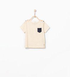 ZARA - KIDS - Striped T-shirt with pocket