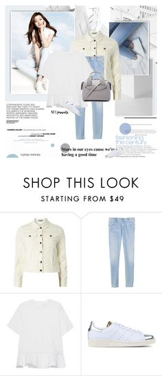 """""""White Shirt and Denim"""" by rainie-minnie ❤ liked on Polyvore featuring F, Hedi Slimane, Dorothy Perkins, Rebecca Taylor, Victoria, Victoria Beckham, adidas Originals and Alexander Wang"""
