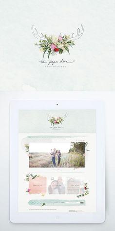 The Paper Deer Photography, Website + Branding - One Plus One Design