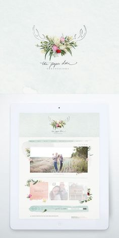The Paper Deer Photography, Website + Branding - One Plus One Design