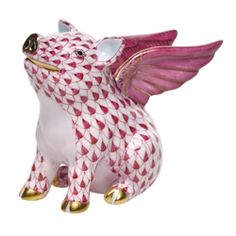 flying pig from Herend (would make a nice ambassador for http://www.makeitpossible.com/ - so glad to see one of the major supermarkets stop selling factory farmed meat products)
