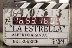 la claqueta de la peli echaba humo! #LaEstrella #rodajeLaEstrella