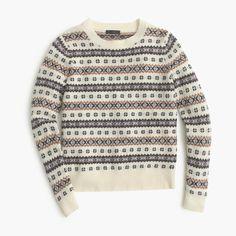 Fair Isle crewneck sweater : Pullovers   J.Crew