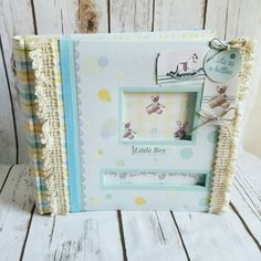 Baby Boy Photo Album Baby Album Handmade by ShabbyChicJCouture
