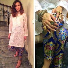 Chicken kurta with brocade pants Ethnic Fashion, Asian Fashion, Punjabi Fashion, Indian Attire, Indian Wear, Pakistani Outfits, Indian Outfits, Indian Couture, Indian Designer Wear