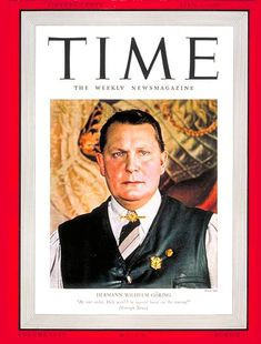 TIME Magazine Cover: Hermann Goring - Apr. 1, 1940 - Hermann Goring - Germany - Third Reich - Nazism