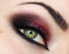 dramatic red/burgundy smokey eye