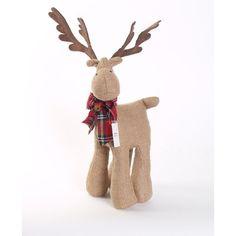 Sage & Co. Appalachian Lodge Burlap Stuffed Moose
