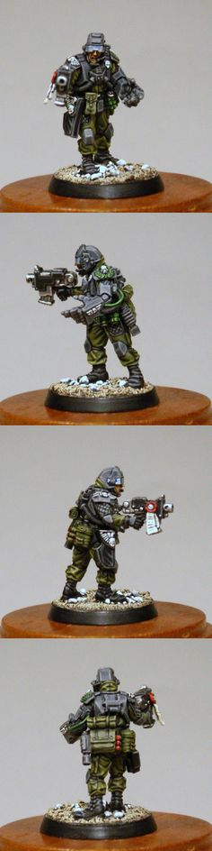 Elysian Captain, Imperial Guard, Warhammer 40k army. This is the kind of painting that I do. This is a single guardsman of the type I would collect, build and then paint. Takes time, but is therapeutic and a delight to see in action