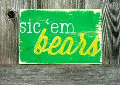 Handmade Baylor Bear block Ahhhhhh Sic'em BEARS!!!!!!