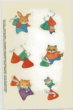 Stickers Vintage CURRENT 1 Large sheet 6 HERSHEY KISSES 1990  A1-5 #Current #Stickers