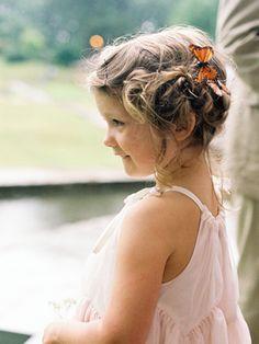 sweet butterfly in her hair