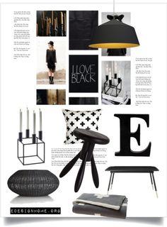 Home accessories in black