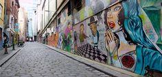 One of my favourite lane ways in Melbourne - Hosier Lane.    Discover more about Hosier Lanes street art - http://bittenbythetravelbug.com/melbournes-street-art-hosier-lane/