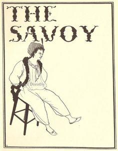 Cover Design Savoy 1896  Aubrey Beardsley Print by SurrendrDorothy, via Flickr
