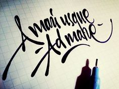 Lettering sketches on Behance