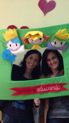 Photocall Decora Educando. www.decoraeducando.com .Rosa Reina.