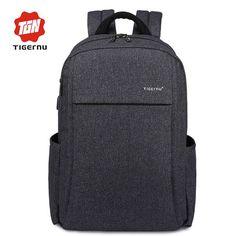 2017 Tigernu Anti-theft USB charging Men 15.6inch Laptop Backpack Women  Backpack Mochila School Backpack Bag Casual Laptop Bag 8e631c7e30224