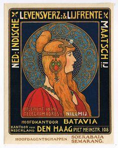 Reclame - Nederlands-Indische Levensverzekering en Lijfrente Maatschappij (Nillmij), ca. 1900