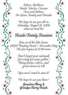 Family Reunion Invite Swirly Tree PRINTABLE DIGITAL INVITATION