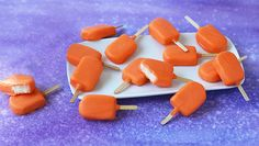 mini creamsicle candy pops