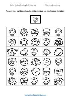 Atención Sostenida Tacha lo más rápido posible las imagenes igual al modelo -Orientacion Andujar 1st Grade Activities, Therapy Activities, Activities For Kids, Grade R Worksheets, Visual Perception Activities, Learning Tower, Auditory Processing, Logic Games, Vision Therapy