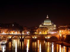 How perfect is that view?  Rome: Trastevere by night