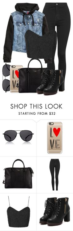 """""""Untitled #1232"""" by thebabybuu on Polyvore featuring The Row, Casetify, Givenchy, Topshop, H&M, women's clothing, women, female, woman and misses"""