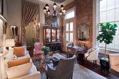 Chad's Small Space Glamour in New Orleans - Apartment Decoration New Orleans Decor, New Orleans Homes, New Orleans Apartment, Living Room Decor, Living Spaces, Living Rooms, Small Living, Living Area, Le Ranch