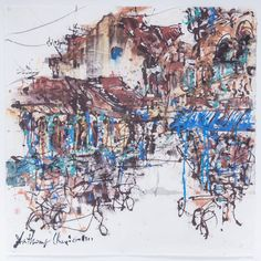 Anthony Chua Say Hua: Buzzing Day, 2015, Ink and Color on Rice Paper, 104 x 102cm. Represented by Ode To Art. Anthony Chua Say Hua skilfully uses gradients, drips and splashes of colour and carefully planned brush strokes to showcase landmarks and places in Singapore. The infusion of green and blue melds seamlessly with the darker brown undertones - resulting in a visually exciting piece filled with dynamism and verve.