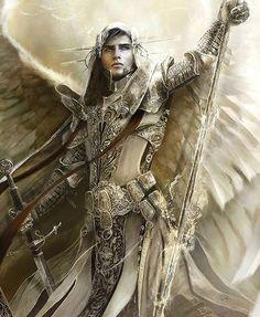 Arcanjo Gabriel: Um anjo que serve como mensageiro de Deus. Ao anjo Gabriel foi confiada a missão mais alta que jamais havia sido confiada a alguém: anunciar o nascimento do Filho de Deus. Por isso, é muito admirado desde a antiguidade.