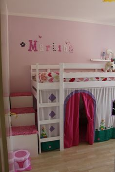 MYDAL Loftbed with play area for girl's room | IKEA Hackers