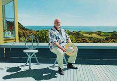Ian North: Daniel Thomas at home, Northern Tasmania :: Archibald Prize 2005 :: Art Gallery NSW