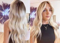Soft Balayage, Balayage Brunette, Dark Roots Blonde Hair, Natural Hair Transitioning, Perfect Money, Natural Hair Styles, Long Hair Styles, Grow Out, Blow Dry