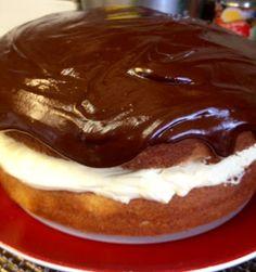 Yet another way to use Tastefully Simple's Almond Pound cake!!  Boston Cream Pie