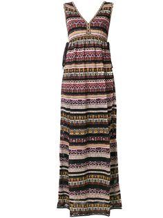 M Missoni v-neck striped dress
